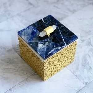 NEW Kendra Scott Square Filigree Box Blue Sodalite